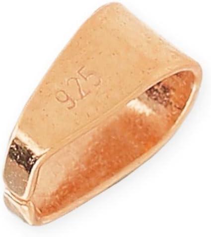 Perles & Co Enganche para Colgante 7.4 mm de Plata 925 Dorado Rosa x1