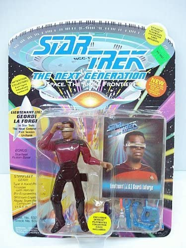Geordi LaForge JG Next Generation Lieutenant TNG First Season Uniform Star Trek Playmates