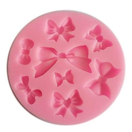 8 Yunko Mini diseño de lazos de molde de silicona para pasta de azúcar de lazo Craft moldes DIY de decoración para tartas: Amazon.es: Hogar