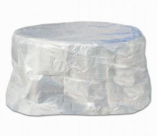Schutzhülle Abdeckung Hülle für Tisch oval 160cm transparent