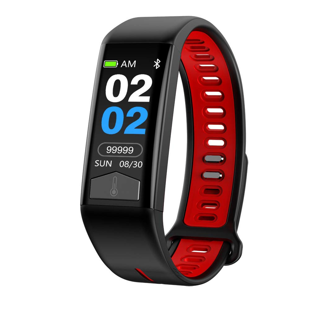Fitness Tracker Waterproof Smart Watch - NDGDA Temperature ECG for Android/iOS with Step Counter, Calorie Counter, Pedometer Watch for Kids Women and Men
