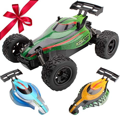 Remote Cars for Boys or Adults - Komoto RC Buggy Remote Control Car Toys w/ Off Road RC Car Tires, Fast Electric Stunt Radio Control Cars for Kids ()