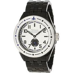 Vivienne Westwood Men's VV007SLBK Saville Silver Black Watch