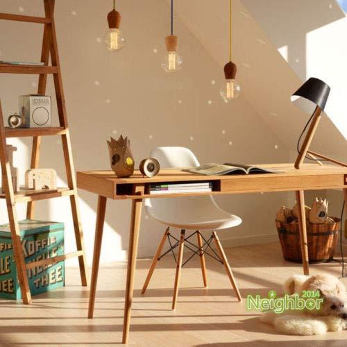 FidgetGear Modern Colorful Wood E27 DIY Ceiling Lamp Holder Hanging Pendant Lights Fixture Red by FidgetGear (Image #3)