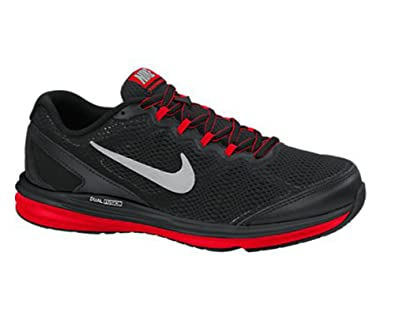 53968331f70c0 Nike Dual Fusion Run 3 Black Red Youths Trainers 5 UK  Amazon.co.uk  Shoes    Bags