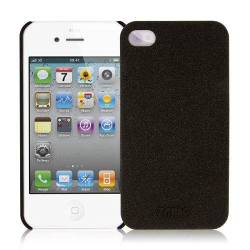 EMPIRE KLIX Slim-Fit Harte Case Tasche Hülle for Apple iPhone 4 / 4S - Quicksand Schwarz (Displaysch