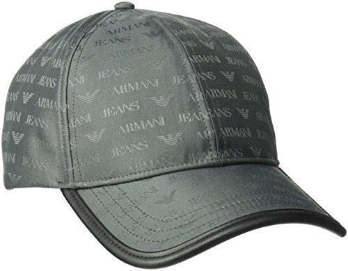 Armani Exchange Men's All Over Logo Jacquard Polyester Baseball Cap, Grey, One - Store Exchange Armani