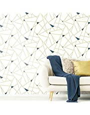 RoomMates RMK11268WP Gold Fracture Peel and Stick Wallpaper