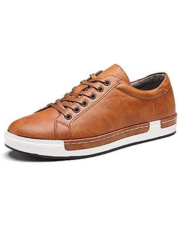 Zapatos de Cordones para Hombre Conducción Zapatillas Cuero Casual Shoes  Attività Commerciale Sneakers Negro 39 3b09f4d9ede
