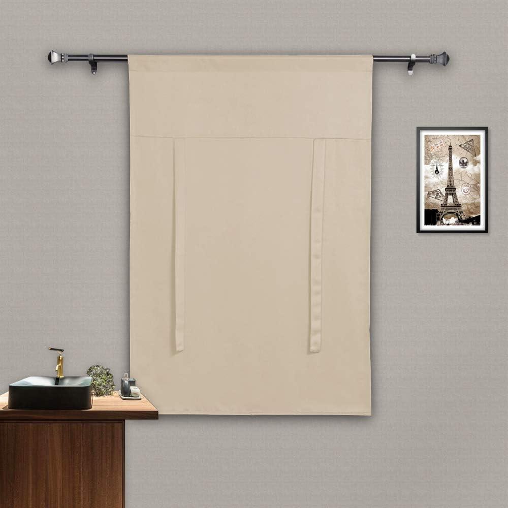 Rose Home Fashion - Cortina de amarre, protección de privacidad para ventanas pequeñas, con aislamiento térmico: Amazon.es: Hogar