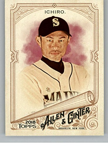 2018 Topps Allen and Ginter Baseball #189 Ichiro Seattle Mariners Official MLB Trading Card ()