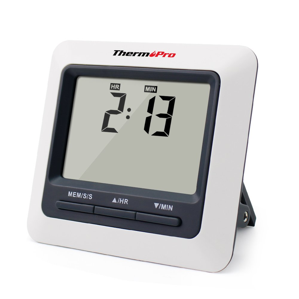 Termómetro digital de Cocina con gran Pantalla LCD para Horno, Barbacoa, con Temperatura de alarma, Temporizador y Cuenta atrás por solo 23,99€