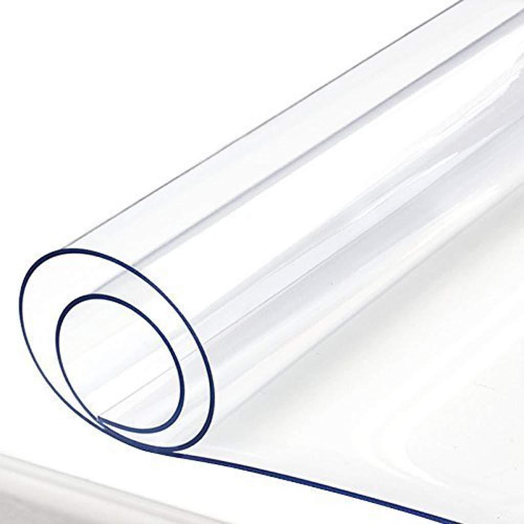 YTJ-JP 3.0ミリメートルプレミアムクリスタルクリアポリ塩化ビニルテーブルクロス保護カバーpvcウッド家具プロテクターカバー長方形透明 (Color : Clear, Size : 90*150cm) 90*150cm Clear B07SNVYKXN