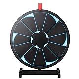 "WinSpin 18"" Tabletop Editable Prize Wheel 12 Slot"