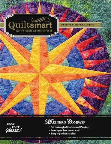 Compass Quilt - QUILTSMART - Printed Interfacing - Mariner's Compass