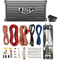 Boss AR1600.4 1600W 4-Ch Car Amplifier + Remote + 2.0 Farad Capacitor + Amp Kit