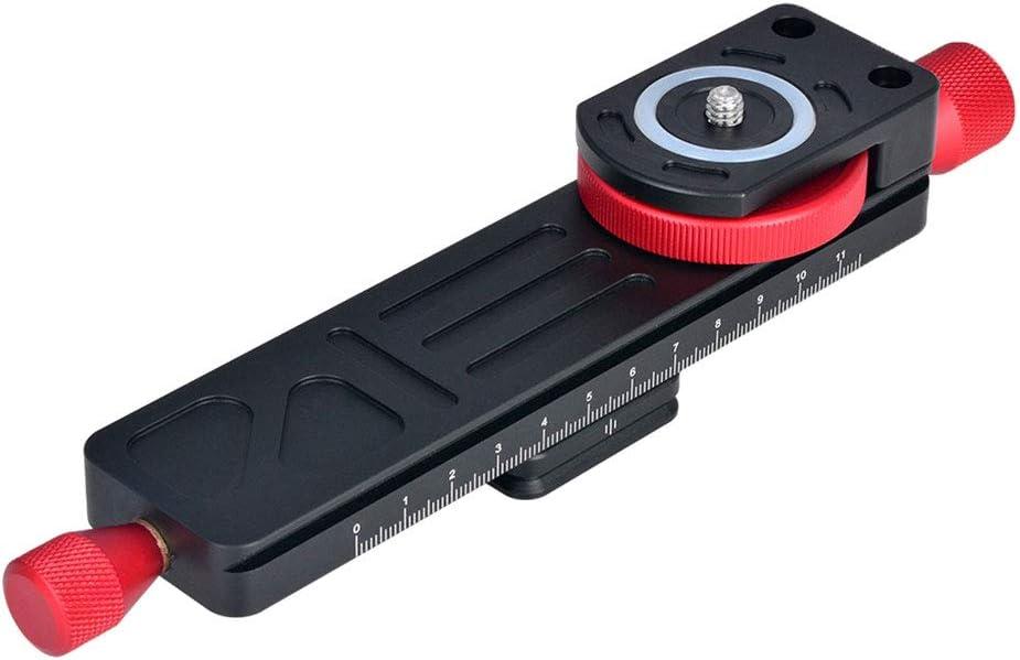 gazechimp Macro Focus Rail Slider Plate for Tripod Camera Lens Clamp Mount 115mm Range