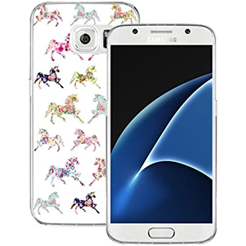 S7 Case MURQ Apple Samsung Galaxy S7 Case Cover Silicone Rubber Protective Girly Horse Animal Print Sales