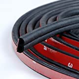 Loobani Self Adhesive Automotive Rubber Seal Strip Weatherstrip for Car Window Door Engine Cover( B Shape, 5M )
