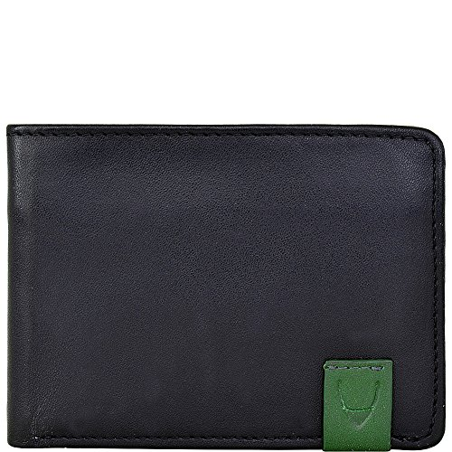 HIDESIGN Men's Dylan Leather Multi-Compartment Wallet, Black (Leather Calf Striped Black)