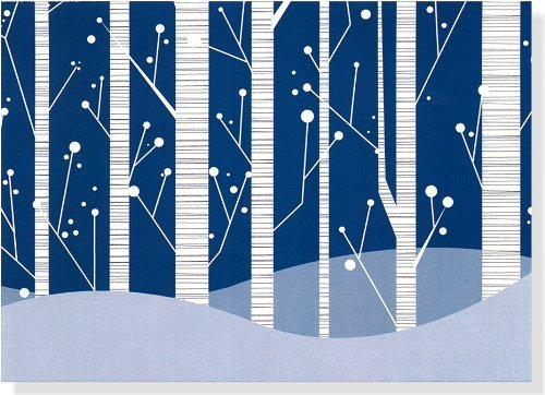 White Birches Holiday Christmas Boxed Cards