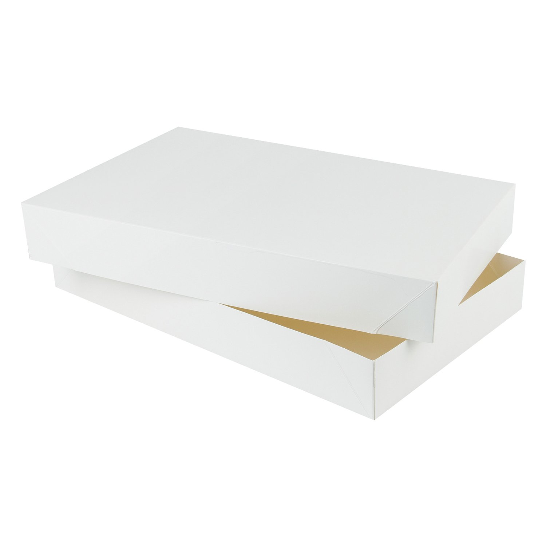 RUSPEPA 43.5 X 28 X 8.9Cm Robe Cartón Caja De Regalo Con Tapas, Cajas De Regalo De Prendas Grandes, 5 Pack Completo (Blanco): Amazon.es: Hogar