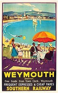 Vintage Warrenpoint Ireland Tourism Poster  A3 Print