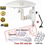 LAVA HD8000 360 Degree Omnidirectional HD TV 4K Omnidirectional TV Antenna Top Rated OmniPro HD-8000 + Installation Kit & TV Antenna Jpole
