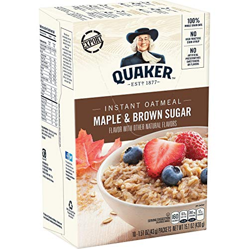 Quaker Instant Oatmeal Maple Brown Sugar 10 ()