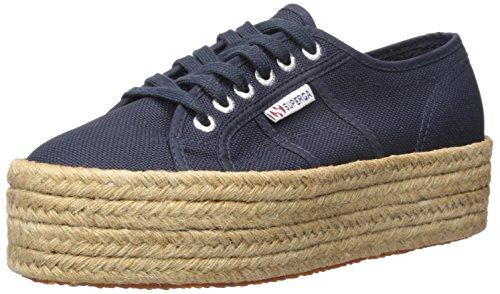 Superga Women's 2790 Cotropew Fashion Sneaker, Navy, 39.5 EU / 8.5 M US