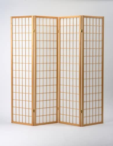 Oriental Shoji Screen Room Divider In Natural Amazon Co Uk Kitchen Home