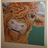 Bonnie The Highland Cow Selfie Stretched & Mounted Canvas Art Print Brand New by Creative Canvas
