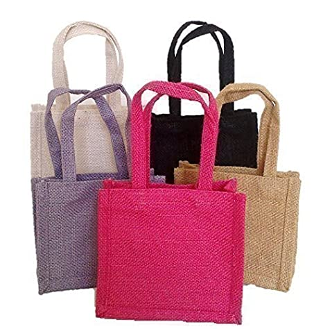 Amazon.com: 5 x bolsas de regalo yute (Código # 01), 1 de ...
