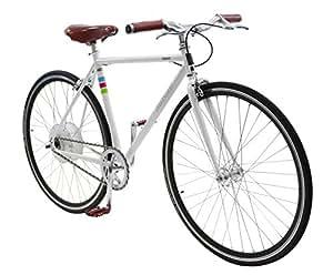 Bibóo Bikes Gekko Bicicleta Eléctrica, Unisex Adulto, Blanco, 50 (S-M)