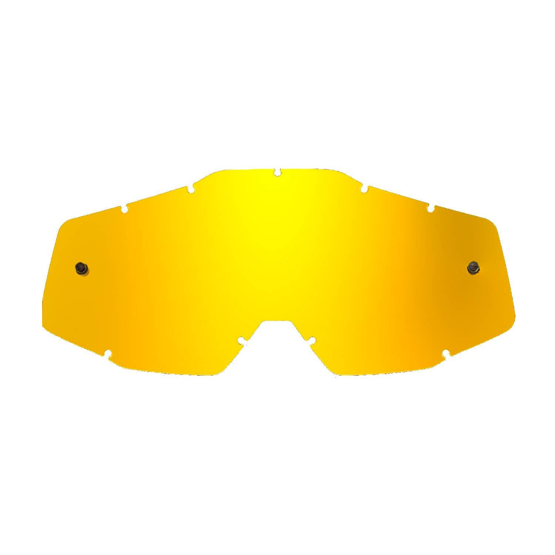 SeeCle 41S101 kombilinsen mit verspiegelten Linsen in transparent mit 10 tear off kompatibel mit 100/% Racecraft//Strata//Accuri Maske