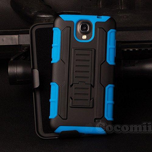 Galaxy Mega 2 Case, Cocomii Robot Armor NEW [Heavy Duty] Premium Belt Clip Holster Kickstand Shockproof Hard Bumper Shell [Military Defender] Full Body Dual Layer Rugged Cover Samsung G750 (Blue)