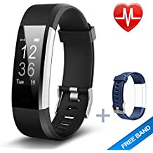 Lintelek Fitness Tracker, Heart Rate Monitor Activity Tracker with Connected GPS Tracker, Step Counter, Sleep Monitor, IP67 Waterproof Bluetooth Pedometer for Android and iOS Smartphone