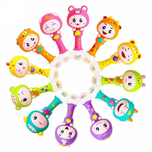 Chinese Zodiac Dynamic Rhythm Stick Plastic Baby Rattles by TALANNA STON