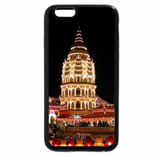 iPhone 6S / iPhone 6 Case (Black) Kek Lok Si Temple at Night View During Chinese New Years