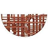Half Round Door Mat Entrance Rug Floor Mats,Copper Decor,Knot of Copper Pipes Complex Entangled Lines Hardware Industry Inspired Decorative,Bronze White,Garage Entry Carpet Decor for House Patio Grass