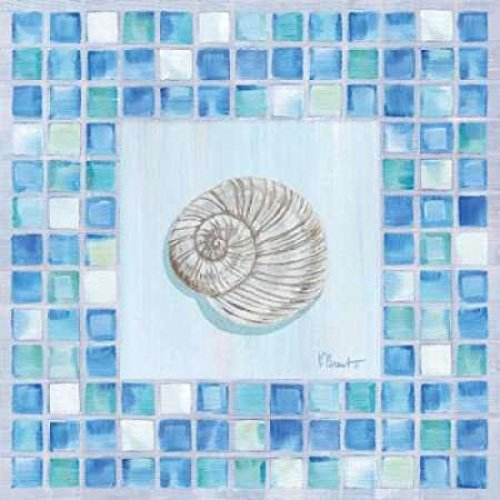 - Posterazzi Mosaic Moonshell Poster Print by Paul Brent (12 x 12)