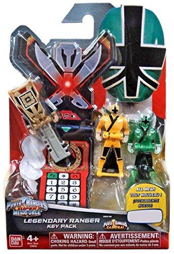 Power Rangers Key Pack Samurai Set C Green Yellow Gold Ranger