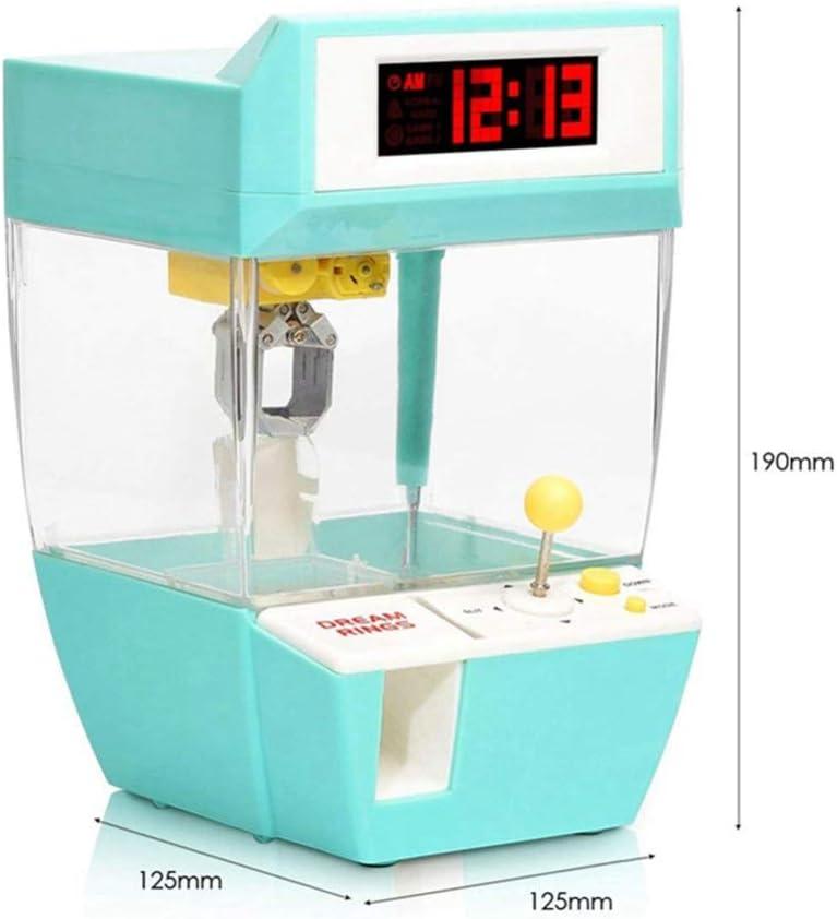 AKDSteel Mini Candy Grabber Catcher Crane Lazy Persona Reloj Despertador Máquina Arcade Sanwa Juegos de Mesa prácticos