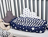 Baby nest with removable cover, big star toddler size nest bed portable crib lounger baby bassinet co sleeper babynest grand bed travel pad pod for newborn co sleeping