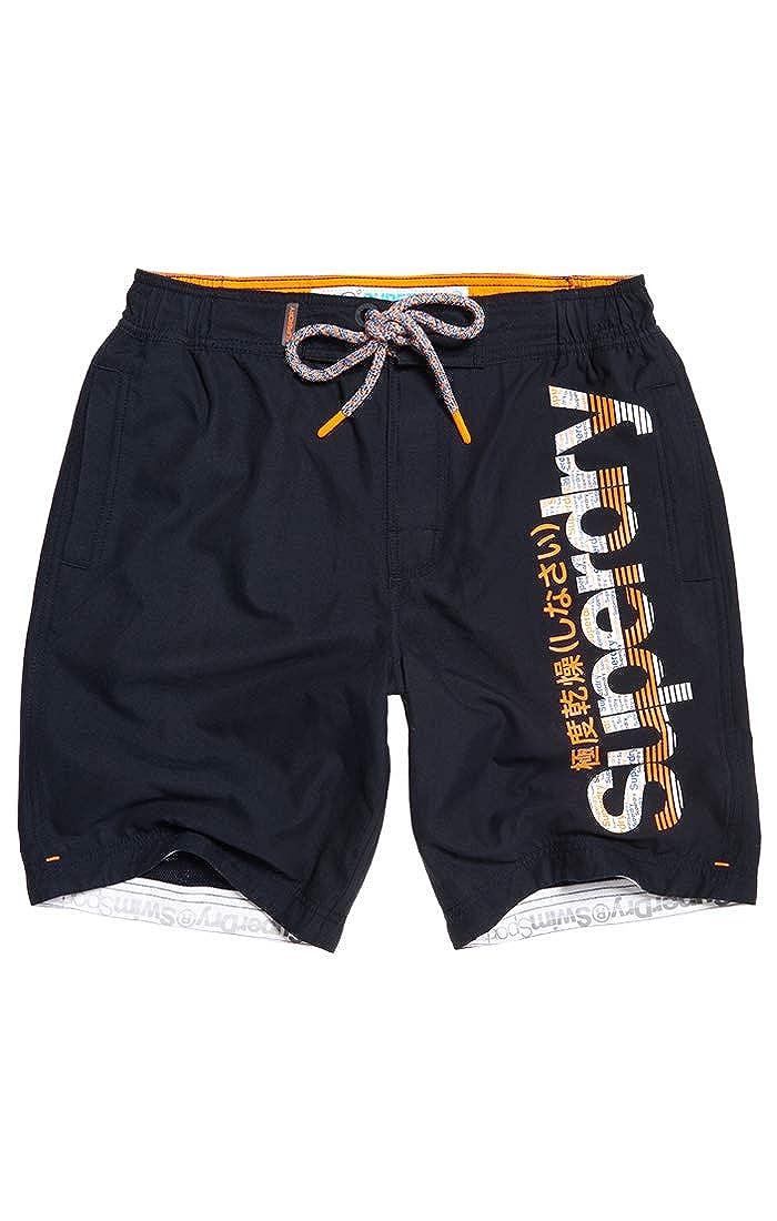 Superdry Boardshort Pantalones Cortos para Hombre