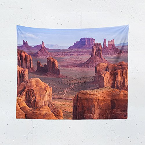 Hanging Mesa - Hunts Mesa Monument Valley Wall Tapestry - Arizona Tribal Navajo Tapestries Hanging Décor Bedroom Dorm College Living Room Home Art Print Decoration - Printed in the USA - Small Medium Large