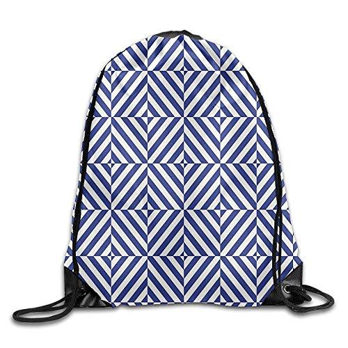 CHJOO Drawstring Backpack Unisex Gym Bag Symmetric And Asymmetric Geometric Pattern Design Drawstring Gym Sack Sport Bag For Men And Women ()