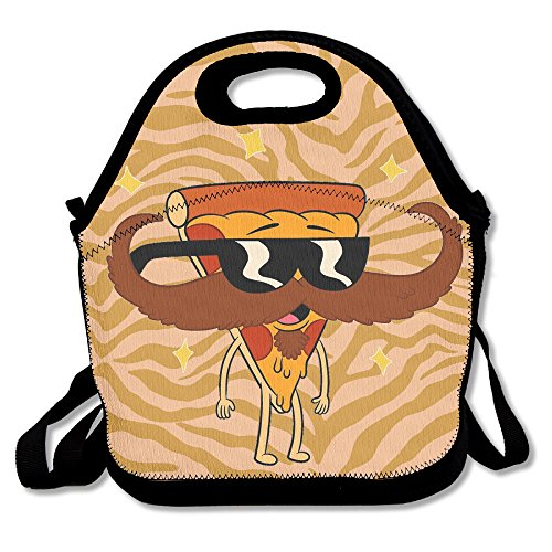 Pizza With Sunglasses And Mustache Handy Portable Zipper Lunch Box Lunch Tote Lunch Tote - Israel Sunglasses