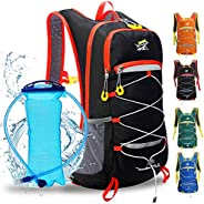 Hydration Pack Backpack with 2L BPA-Free Bladder, Adjustable Padded Shoulder Chest Waist Straps, Perfect Outdo