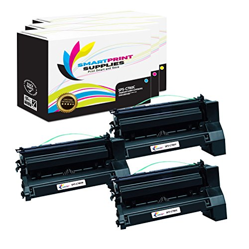 (Smart Print Supplies Compatible C780 C782X1CG C782X1MG C782X1YG Extra High Yield Toner Cartridge Replacement for Lexmark C770 C772 C780 C782 X780 X782 Printers (Cyan, Magenta, Yellow) - 3 Pack)